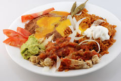Chicken Fajita Mexican Plate Stock Image