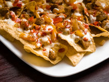 Chicken Fajita Nachos Stock Images