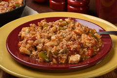 Chicken Fajita Rice Stock Image