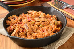 Chicken fajita with rice Stock Photo