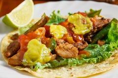 Chicken fajita tortillas - dish of mexico Stock Photo