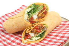 Chicken Fajita Wrap Royalty Free Stock Photos