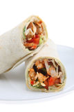 Chicken Fajita Wrap Stock Image