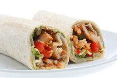 Chicken Fajita Wrap Sandwich Stock Photo
