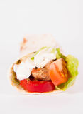 Chicken fajita wrap Stock Photo