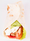 Chicken fajita wrap Royalty Free Stock Photography