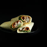 Chicken Fajita Wraps Stock Photo