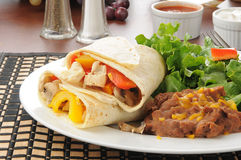 Chicken fajitas Royalty Free Stock Image