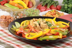 Chicken fajitas gourmet style Royalty Free Stock Images