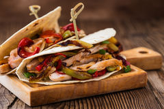 Chicken fajitas Royalty Free Stock Photography