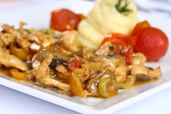Chicken Fajitas with Vegetables Stock Images