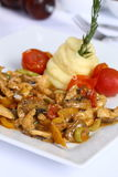 Chicken Fajitas with Vegetables Royalty Free Stock Image
