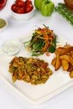 Chicken Fajitas with Vegetables Stock Photos