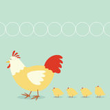 Chicken family. And color  images Royalty Free Stock Photography