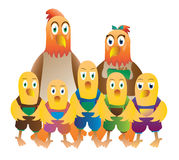 Chicken family Royalty Free Stock Image