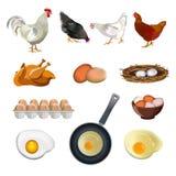 Chicken farm set stock illustration