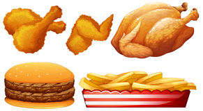 Chicken and fast food Stock Photography