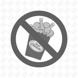 chicken fast food unhealth prohibited Royalty Free Stock Photo