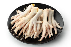 Chicken feet. Fresh raw chicken feet are mostly used for cooking Chinese cuisine Stock Image