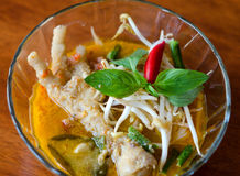 Chicken feet curry with noodles Stock Images