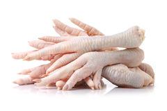 Chicken feet. Isolated on white background Stock Photo