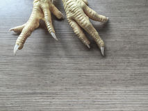 Chicken feet in order to cook. Raw chicken feet in order to cook Stock Photography