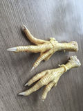 Chicken feet in order to cook. Raw chicken feet in order to cook Royalty Free Stock Photo