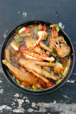 Chicken feet soup Stock Photography