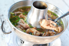 Chicken feet soup Royalty Free Stock Images