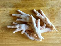 Chicken Feet without Toenails Royalty Free Stock Photography