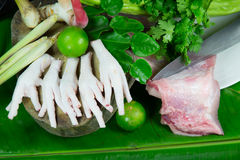Chicken feet and Tom Yum group Stock Photography