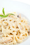 Chicken fettuccine royalty free stock image