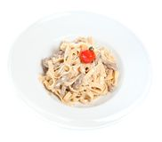 Chicken fettuccine Royalty Free Stock Photography