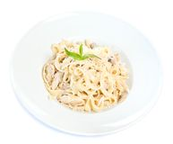 Chicken fettuccine pasta Stock Images