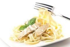 Chicken Fettuccini Alfredo stock image