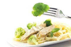 Chicken Fettuccini Alfredo Royalty Free Stock Images