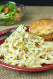 Chicken Fettucine Alfredo Royalty Free Stock Photo