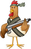 Chicken Fighter With A Shotgun Royalty Free Stock Photography