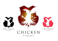 Chicken fighting symbol vector Royalty Free Stock Images