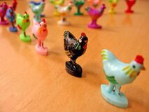 Chicken figurines Royalty Free Stock Image