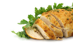 Chicken filet close-up Royalty Free Stock Images