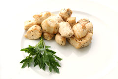 Chicken filet with coarsely ground black pepper. Cut chicken filet with coarsely ground black pepper Stock Image