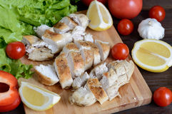 Chicken fillet baked Stock Photography