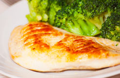 Chicken fillet with broccoli Royalty Free Stock Photography