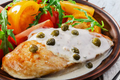 Chicken fillet with caper Royalty Free Stock Images