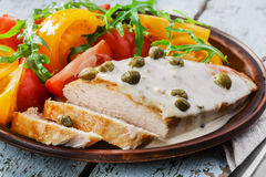 Chicken fillet with caper Royalty Free Stock Image