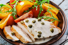 Chicken fillet with caper Royalty Free Stock Photography