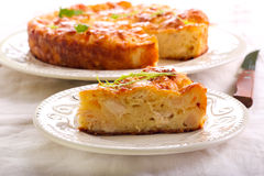 Free Chicken Fillet, Cauliflower And Cheese Quiche Royalty Free Stock Image - 65541286