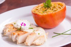 Chicken Fillet with cheese Stock Photos