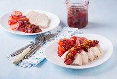 Chicken fillet with cranberry relish Royalty Free Stock Photo